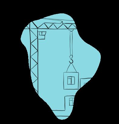 Illustration of Crane lifting